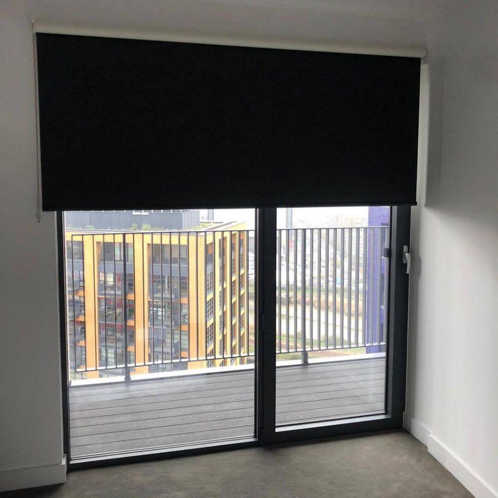 Motorized blackout blinds
